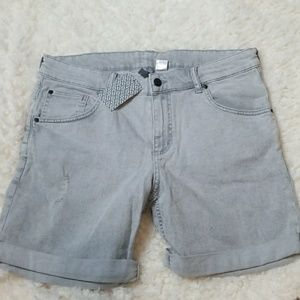 Grey Denim Shorts by Divided/H&M Size 34